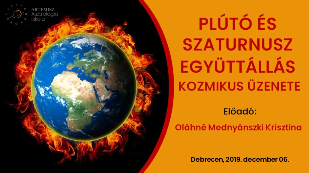 Plútó Szaturnusz együttállás előadás Artemisz Asztrológia Webshop